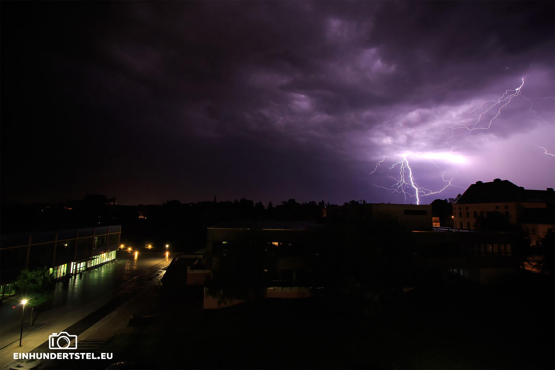 Gewitter über Freiberg