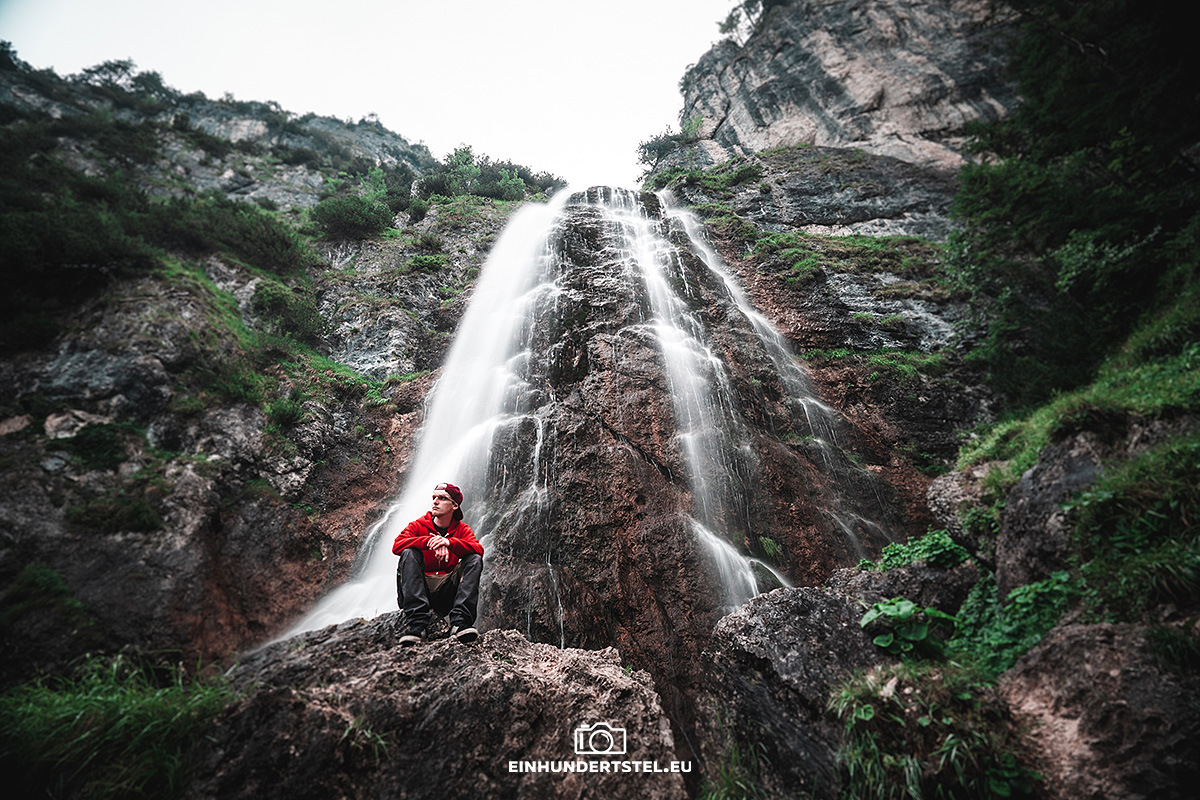 Rico vorm Dalfazer Wasserfall