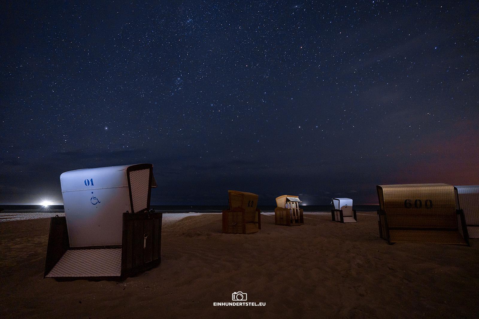 Sterne mit Strandkörben am Strand von Karlshagen